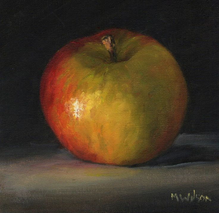 Original Oil Painting/ Marjorie Wilson/ Still Life - 'Apple Study'