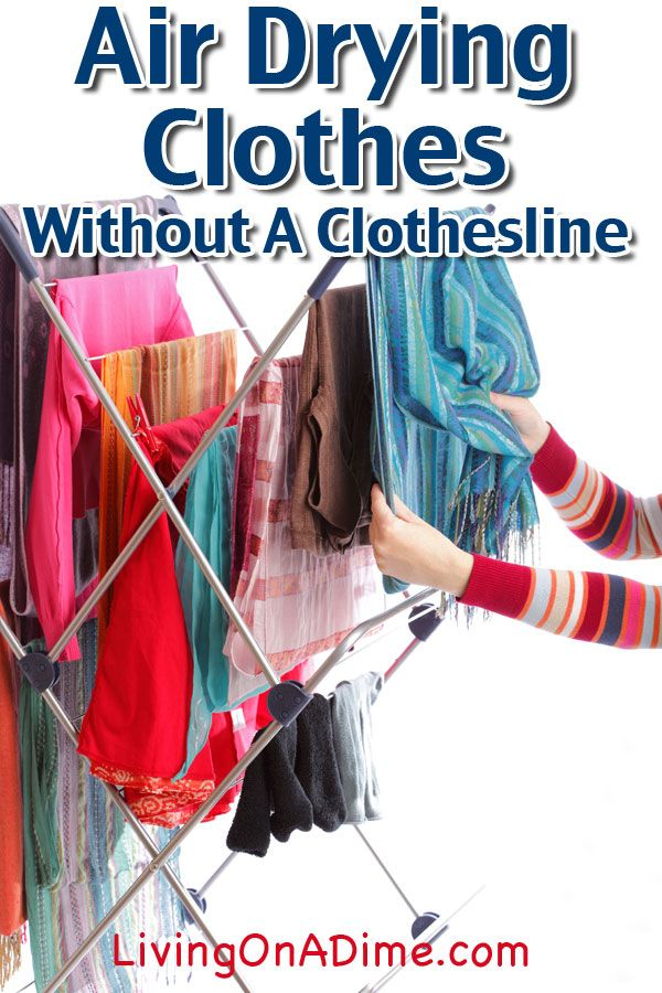 Clothes Drying On A Clothesline ~ Air drying clothes without a clothesline and