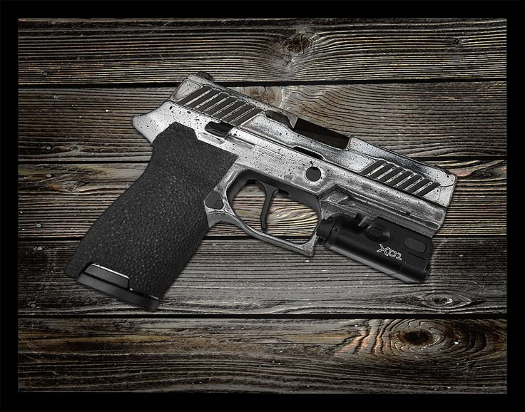 Sig P320 Compact with Grip Work and Distressed Finish from Revolution Concepts. Sporting a Surefire XC1 and Apex Flat Trigger to get the job done