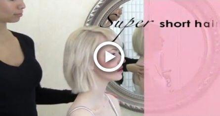 Bridal hair tips – really short hair updo