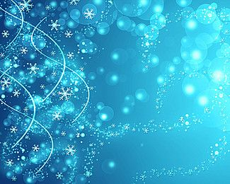 Blue Dream snowflake background material
