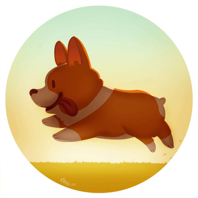 Run Corgi Run GIF by Jin Yuan / McIdea ★ Find more at http://www.pinterest.com/competing/
