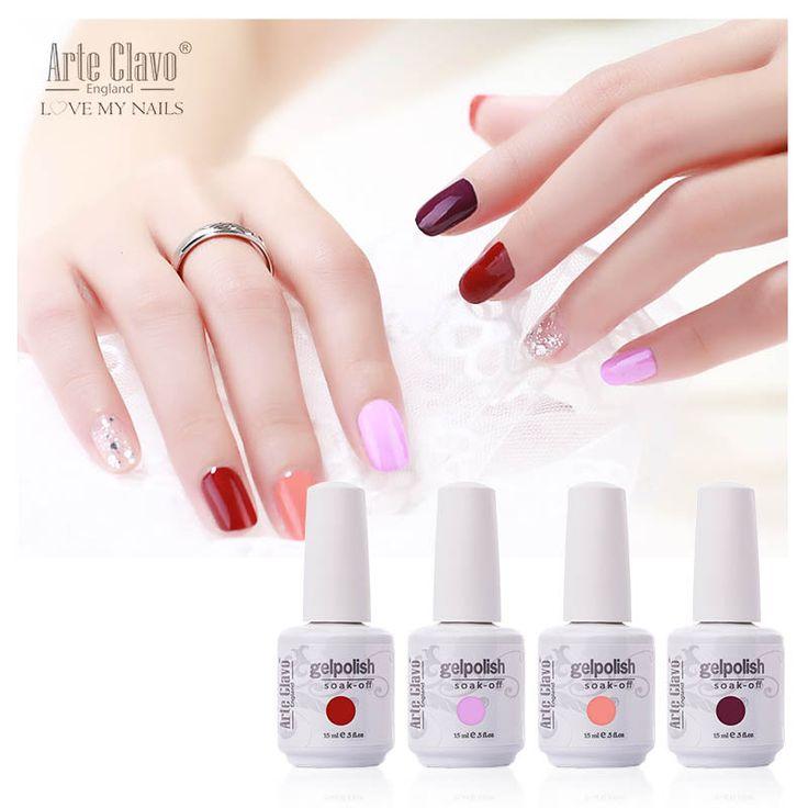 Arte Clavo 15 ml Gel Polnisch Französisch Nägel UV Gel 220 farben Für Ihr Wählen Weg Tränken Lack UV Gel Nagel polnisch