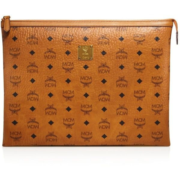 Mcm Large Heritage Clutch ($500) ❤ liked on Polyvore featuring bags, handbags, clutches, mcm, purses, oversized clutches, travel hand bags, man travel bag, oversized purses and oversized handbags