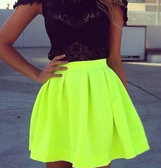 Bright Yellow Skirt 109