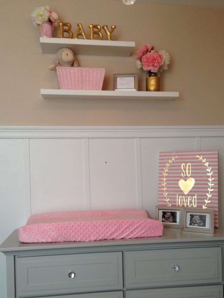 Grey And Pink Baby Girl Nursery Lowes Shelving Hobby