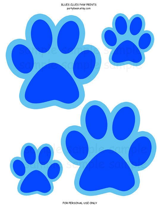 Blues Clues Paw Prints (Blue) - Party Decoration - Game - Crafts - Birthday: Digital pdf File YOU PRINT