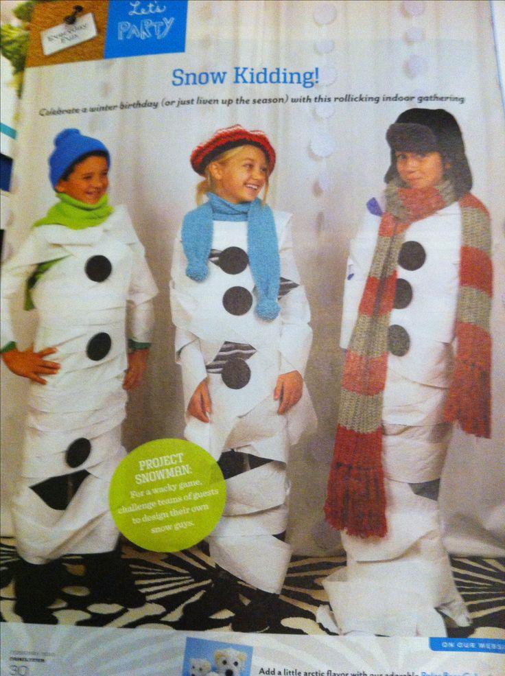 Fun winter game for kids