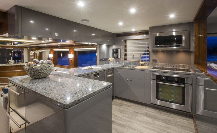 Outer reef 86 39 galley custom yacht interior design destry for Punch interior design