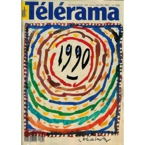 Télérama - n°2085 - 27/12/1989 - 1990 par Pierre Alechinsky [magazine mis en vente par Presse-Mémoire]