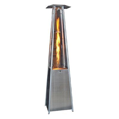 SUNHEAT Contemporary Square Design Portable 40,000 BTU Propane Patio Heater Finish: Stainless Steel