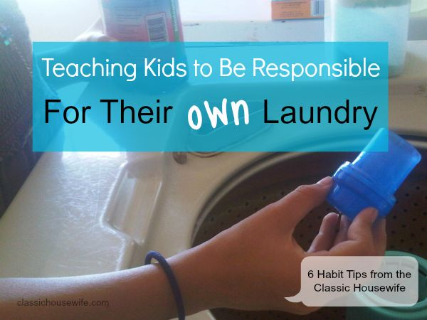 Do you want your kids to know how to do their OWN laundry? Learn how from {Weekend Links} on HowToHomeschoolMyChild.com