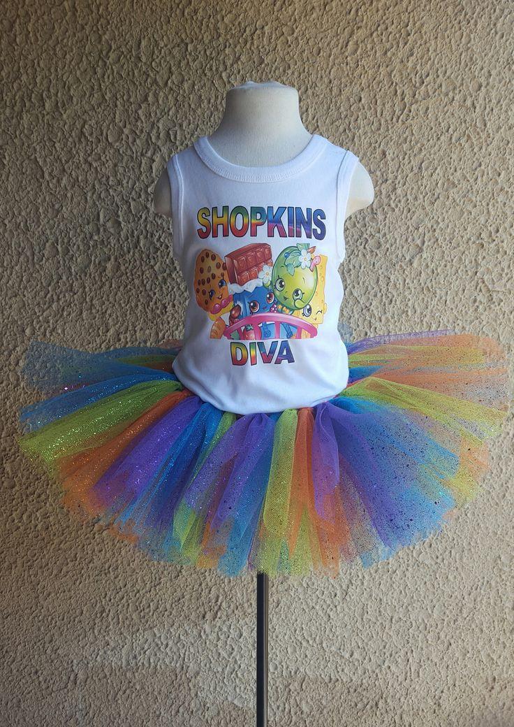 Shopkins Diva Tutu Outfit - Shirt w/ design - Tutu: Ballerina Short