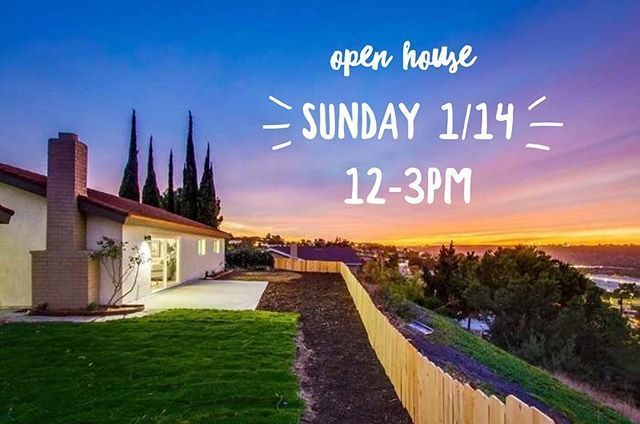 What are you doing this weekend? ⭐️⭐️⭐️ Come visit @5_ohmuscle and me @ 5520 Fontaine St, #SanDiego! ☀️ #DelCerro / #AlliedGardens 3 🛏 | 2 🛁  #VIEWS FOR DAYS Exquisitely Remodeled  Can't make it #Sunday? We'd love to give you a private tour! Contact us anytime! ☎️619-947-3516 . . . . #sandiegorealestate #realestate #realtor #realtorlife #socal #california #californialiving #openhouse #buy #sell #invest #flippedhome #homeforsale #kw #kellerwilliams - posted by Courtney Cameron 🗝🏠🌴…
