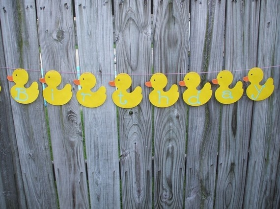 Customize Rubber Duck Birthday or baby shower banner)