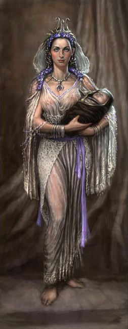 Rhea - queen of the titans once her husband Cronos had taken over and mother to the Olympian gods, who Cronos ate at birth to stop them over throwing him.