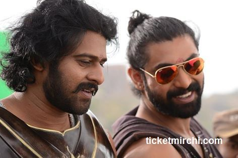 Prabhas & Rana Daggubati from the sets of #Baahubali ..!