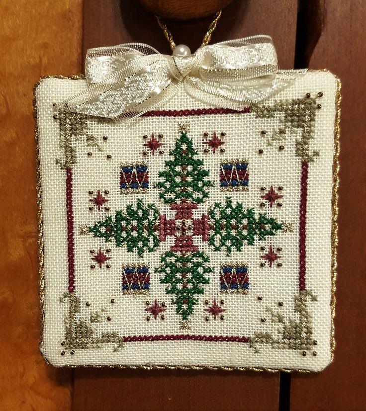 Just Nan cross stitch ornament