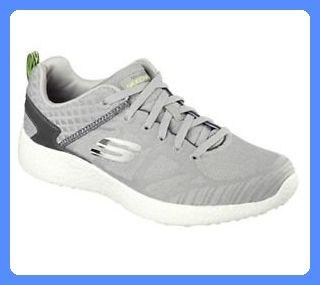 Skechers Men's Burst Deal Closer Training Shoe,Light Gray/Black,US 8 M