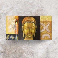 Calm Buddha!  Ge hemmet ett exklusivt utseende med en handmålad canvastavla på Buddha! Guldfärgen i kombination med motivet ger oljemålningen en iögonfallande look och rummet det lilla extra.  Länk till produkt: http://www.feelhome.se/tag/buddha/  #Homedecoration #Canvas #olipainting #art #interior #design #Painting #handpainted #Walldecor #väggdekor #interiordesign #canvastavla #canvastavlor #love #buddha #ansikte #Modernt #Vardagsrum #Kontor #guld