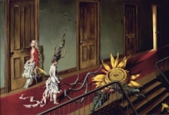 dorothea tanning a sunflower in  the hall - dorothea tanning sunflower'