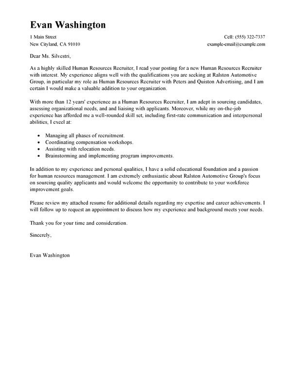 Cover Letter To Recruiter from i.pinimg.com