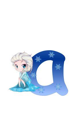 Alfabeto de Frozen Bebés.