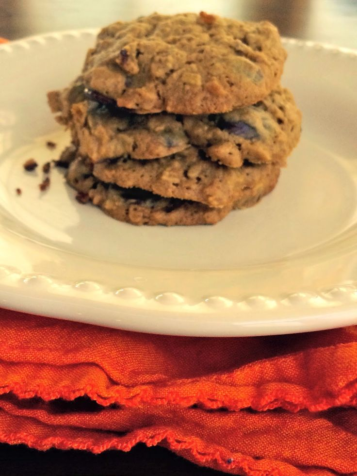 "Clean"" Oatmeal, dark chocolate and Sunflower Seed Butter cookies ..."