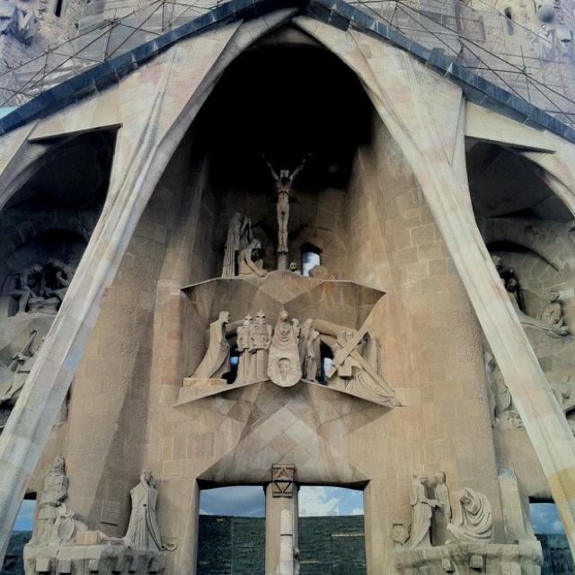 Goudi's Sagrada Familia. Barcelona, Spain