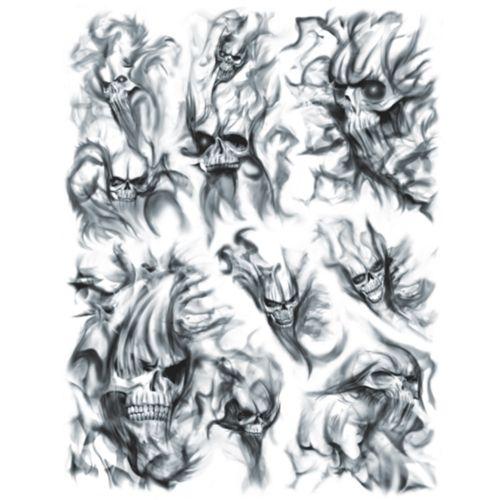 Skull Smoke Tattoo Filler Patterns