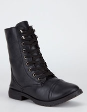 BLUE Womens Military Boots -