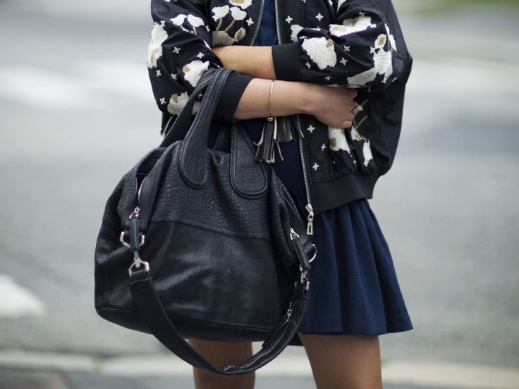 Floral embroidered bomber jacket, Givenchy Nightingale