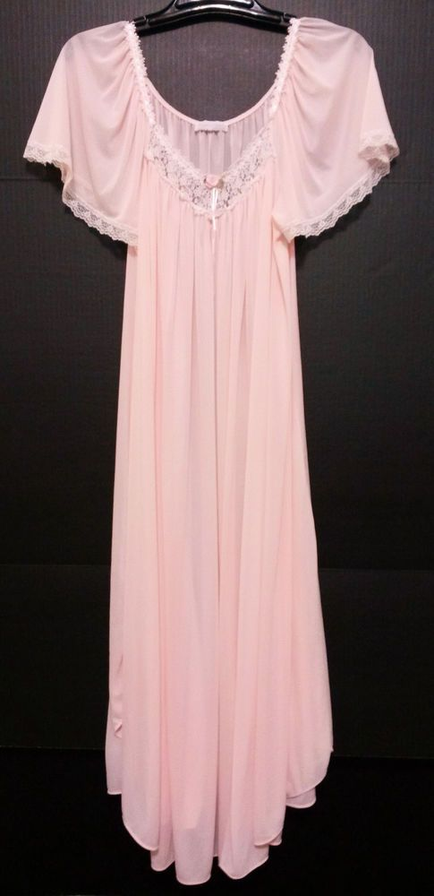 "Miss Elaine - Women's Night Gown - Size Medium (44"" Bust) Vintage Pink Long Lingerie  #MissElaine  ..... Visit all of our online locations.....  www.stores.eBay.com/variety-on-a-budget .....  www.amazon.com/shops/Variety-on-a-Budget .....  www.etsy.com/shop/VarietyonaBudget .....  www.bonanza.com/booths/VarietyonaBudget .....  www.facebook.com/VarietyonaBudgetOnlineShopping"