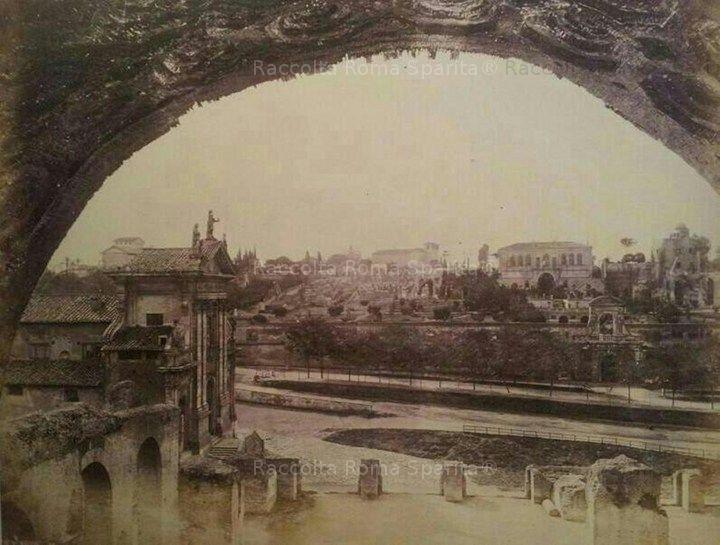 Il Palatino visto dalla Basilica di Massenzio Anno: 1860