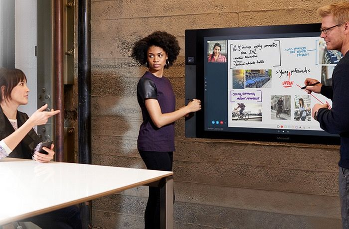 Microsoft Surface Hub Interactive Display Launches Later This Year (video)    The Microsoft Surface Hub has been designed to provide teams with a collaboration device to offer a new way of recording ideas during meetings in a more natural way. Whether you're in the room or on the other side of the world, Microsoft Surface Hub brings everyone into the collaboration.