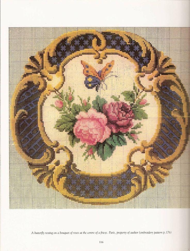 Французская вышивка 19 века