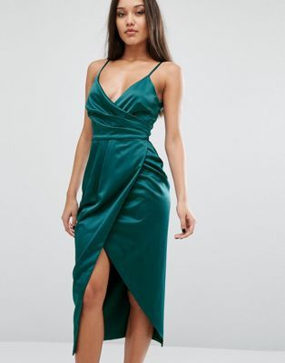 Lavish Alice Cami Midi Dress In Satin