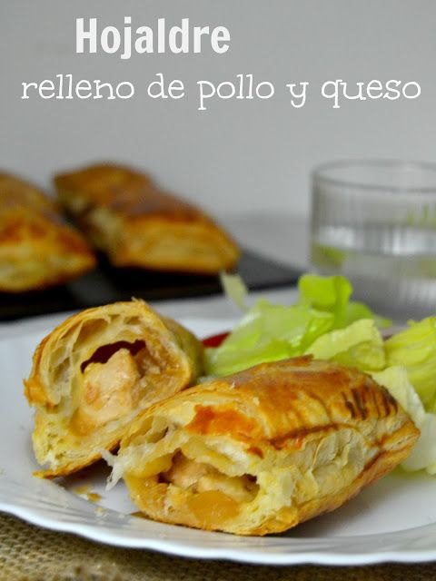 Cuuking! Hojaldre relleno de pollo y queso. // pastry filled with chicken and cheese