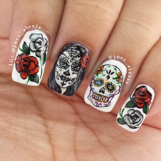 Skull Nail Art: 25+ Best Ideas About Sugar Skull Nails On Pinterest
