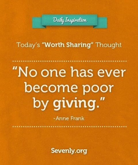 A life of #Generosity is a life worth living. Re-Pin if you agree :)