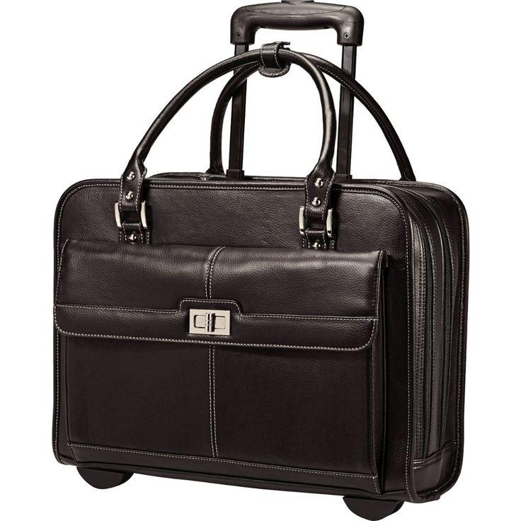 Samsonite - Business Women's Mobile Office Rolling Laptop Case - Black