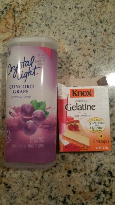 Low carb Sugar free jello . 4 envelopes of Knox Gelatin. 1 package of 2qt Crystal light . Follow instructions on box. Great for making your own sugar free Jello. For sweeter jello add 1tsp of stevia