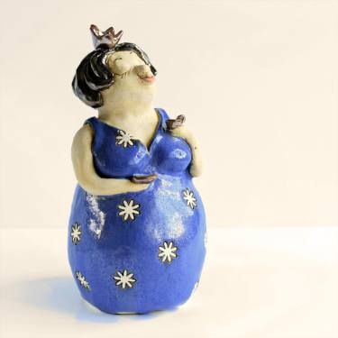 "Saatchi Art Artist Sylwia Drążkowska; Sculpture, ""Ceramic princess with a cup of coffee"" #art"