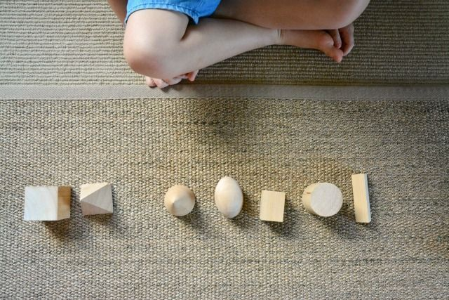 Missing Object Game at How we Montessori - study the objects, have the child close her eyes, remove one, and have her tell you which is missing now