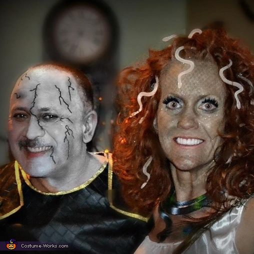 medusa and stone man creative couples halloween costume idea - Halloween Store New Jersey
