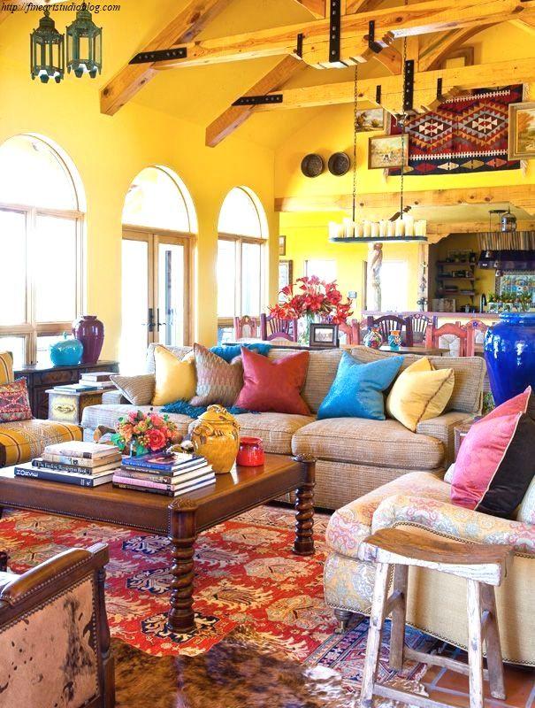 37 Incredible Mexican House Decor Opinion Bohemian Living Room Decor Living Room Design Diy Home Decor