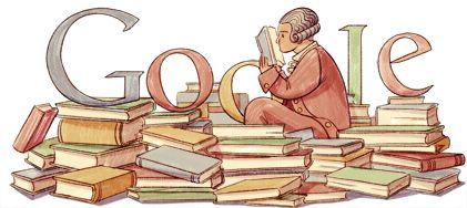 Google Doodle for Adam Frantisek Kollar's 295th Birthday, in Slovakia
