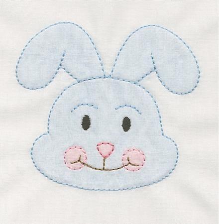 Shadow Work & Embroidery :: Babies :: Shadow Bunny Head