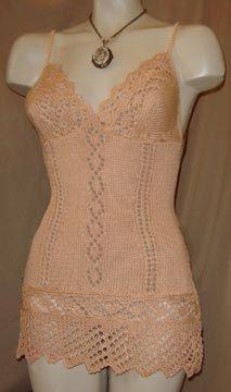 Sexy Knitting Patterns : Vintage style chemise knitting pattern Knit Pinterest Sexy, Vintage sty...