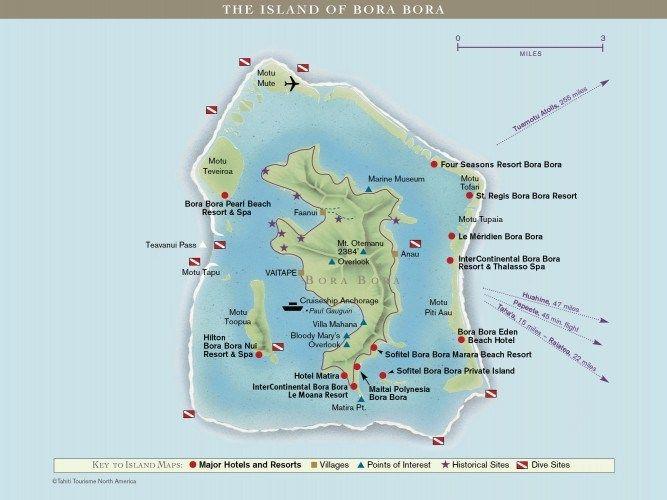 Mapa Bora Bora Bora Bora Polinesia Francesa Polinesia Francesa